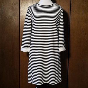 LUMIERE BLACK AND WHITE STRIPED DRESS SZ SMALL